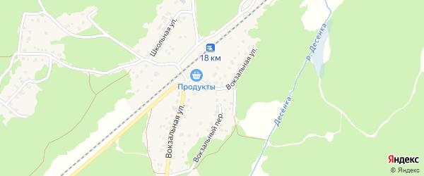 Вокзальная улица на карте поселка Пятилетки с номерами домов