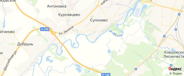 Карта территории Супоневского сельского поселения Брянской области с районами, улицами и номерами домов