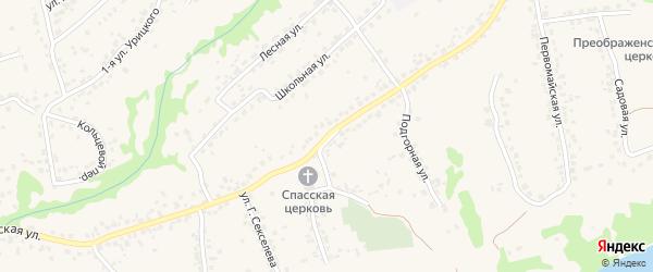 Московская улица на карте села Супонево с номерами домов