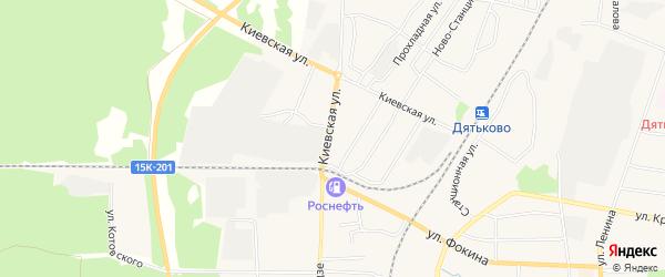 ГСК ГБ по дворе дома 29 по ул Киевская на карте Дятьково с номерами домов
