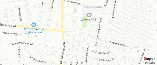 Раздельная улица на карте Брянска с номерами домов