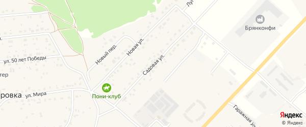 Садовая улица на карте деревни Дубровки с номерами домов