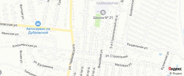 3-й Строительный проезд на карте Брянска с номерами домов