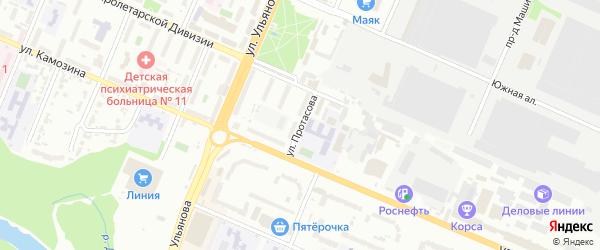 Улица Протасова на карте Брянска с номерами домов