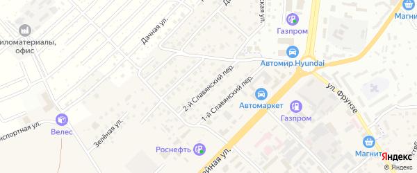 2-й Славянский переулок на карте села Супонево с номерами домов
