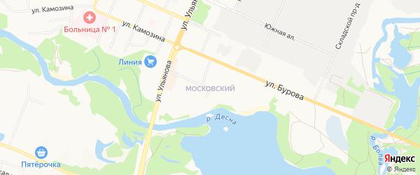 Территория ГО МКР Московский на карте Брянска с номерами домов