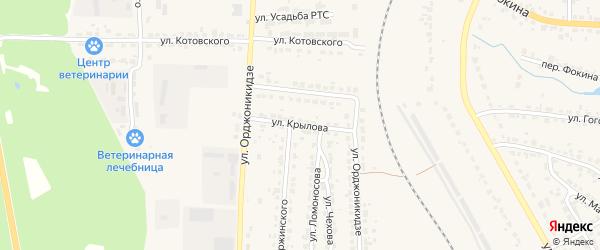Улица Крылова на карте Дятьково с номерами домов