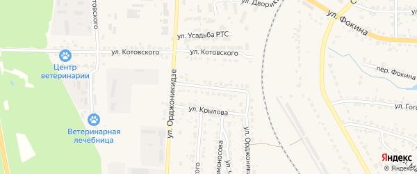 Улица Орджоникидзе на карте Дятьково с номерами домов