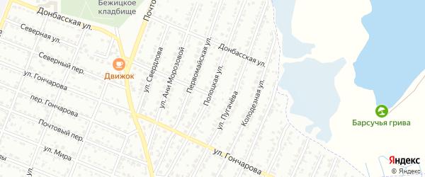 Полоцкая улица на карте Брянска с номерами домов