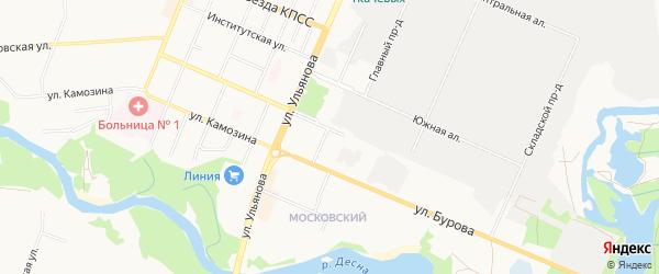 Территория БГ по ул Протасова 1 на карте Брянска с номерами домов