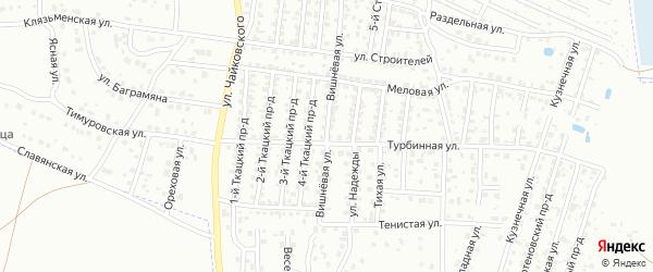 Вишневая улица на карте Брянска с номерами домов