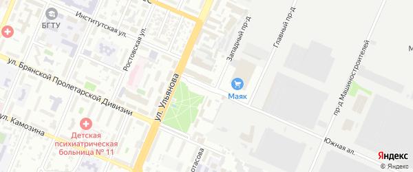 Базарная улица на карте Брянска с номерами домов
