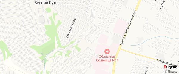 Территория СО Юпитер на карте Брянска с номерами домов