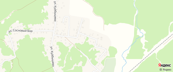 Партизанская улица на карте поселка Пятилетки с номерами домов