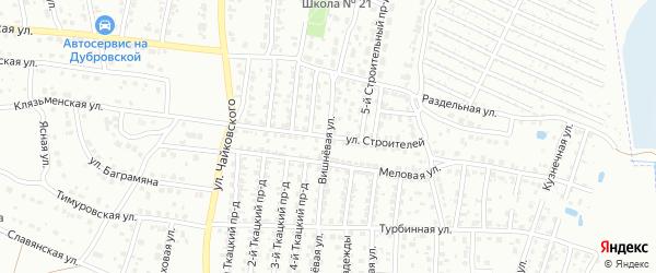 Улица Строителей на карте Брянска с номерами домов