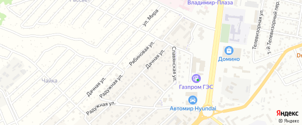 Дачная улица на карте села Супонево с номерами домов