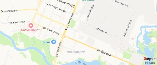 Территория ГО Протасова-1А на карте Брянска с номерами домов