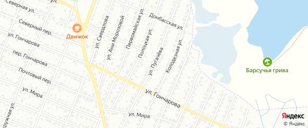 Улица Пугачева на карте Брянска с номерами домов