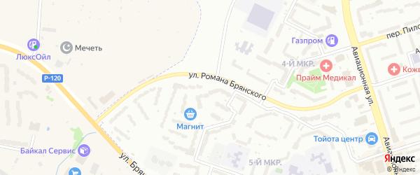 Улица Романа Брянского на карте Брянска с номерами домов