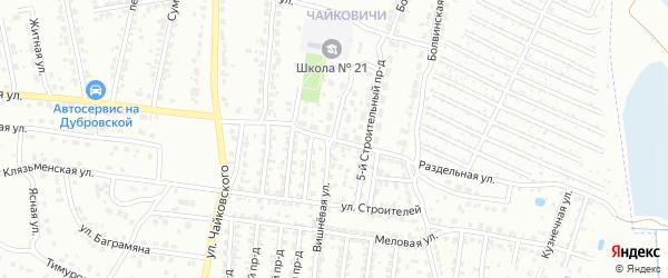 4-й Строительный проезд на карте Брянска с номерами домов