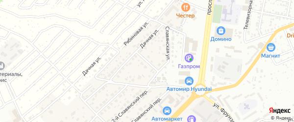 1-й Дачный переулок на карте села Супонево с номерами домов