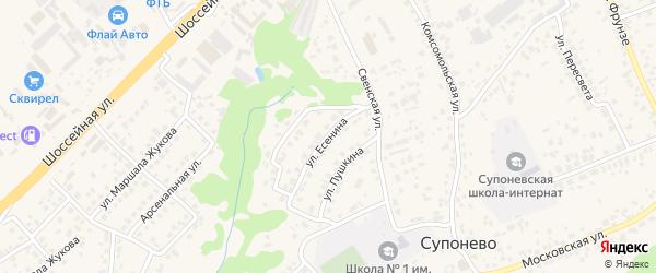 Улица Есенина на карте села Супонево с номерами домов