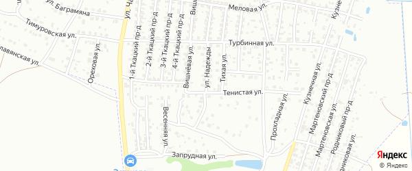 Улица Надежды на карте Брянска с номерами домов