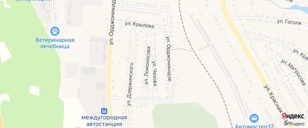 Улица Чехова на карте Дятьково с номерами домов