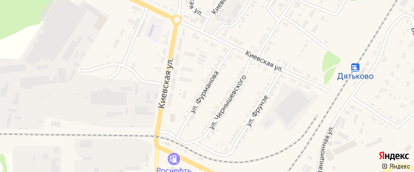 Улица Фурманова на карте Дятьково с номерами домов