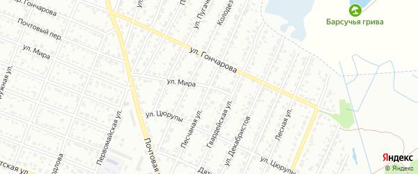 Песчаная улица на карте Брянска с номерами домов