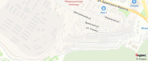 Окружной 2-й переулок на карте поселка Путевки с номерами домов