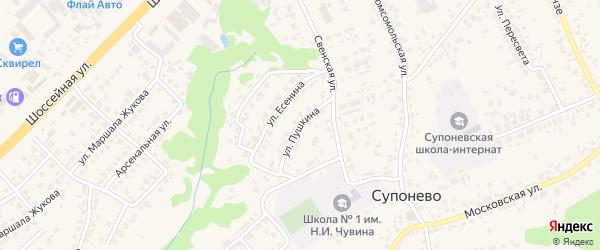 Улица Пушкина на карте села Супонево с номерами домов