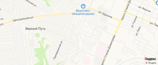 Территория СО Коммунальник на карте Брянска с номерами домов
