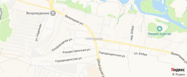 ГО Бежицкая территория на карте Брянска с номерами домов