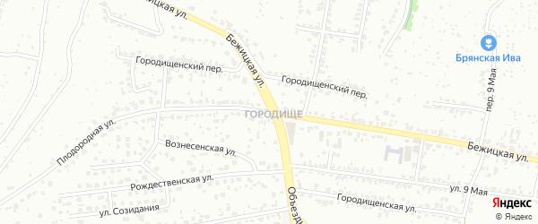 Бежицкая улица на карте Брянска с номерами домов