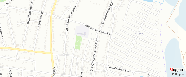 Магистральный переулок на карте Брянска с номерами домов
