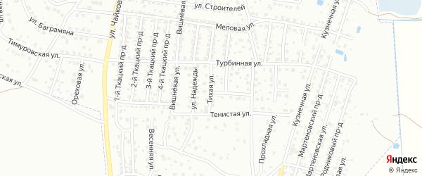 Тихая улица на карте Брянска с номерами домов