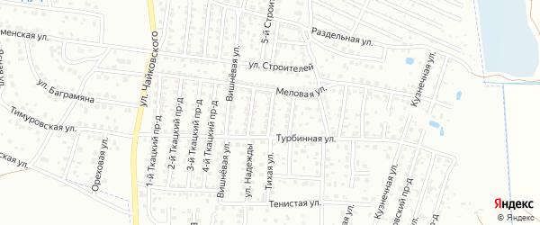 2-й Меловой проезд на карте Брянска с номерами домов