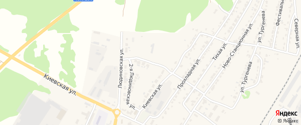 2-я Людиновская улица на карте Дятьково с номерами домов
