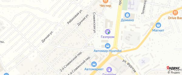Славянская улица на карте села Супонево с номерами домов