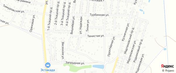 Тенистая улица на карте Брянска с номерами домов