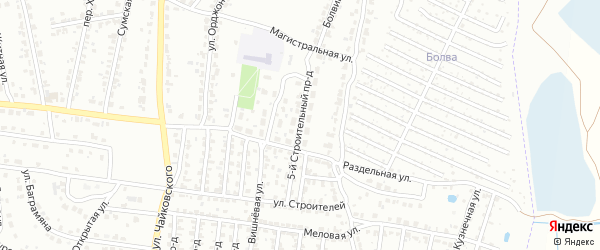 5-й Строительный проезд на карте Брянска с номерами домов