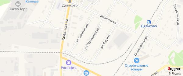 Улица Чернышевского на карте Дятьково с номерами домов