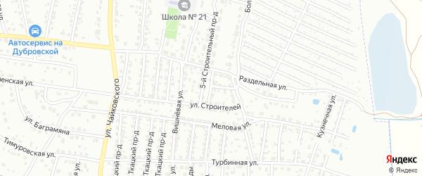 6-й Строительный проезд на карте Брянска с номерами домов