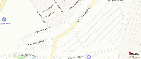 Улица Чайковского на карте Брянска с номерами домов