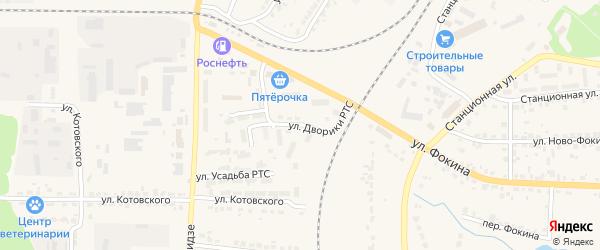 Улица Дворики РТС на карте Дятьково с номерами домов