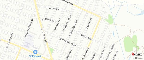 Улица Декабристов на карте Брянска с номерами домов