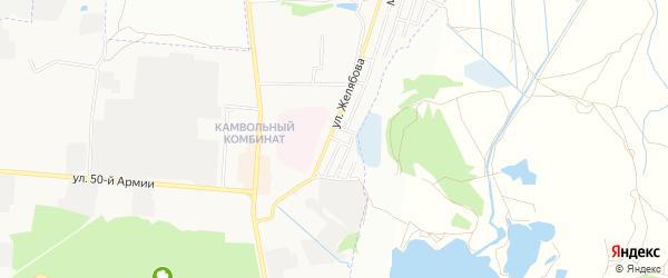 Территория ГО Вагонный на карте Брянска с номерами домов