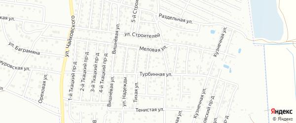 3-й Меловой проезд на карте Брянска с номерами домов
