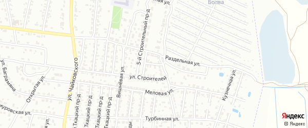 7-й Строительный проезд на карте Брянска с номерами домов
